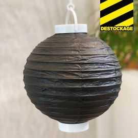 Lampion lumineux noir 20 cm.