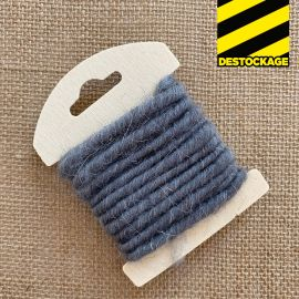 Cordon en laine déco gris 3 mètres