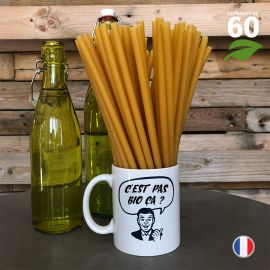 60 Pailles en blé 25 cm. Biodégradables - Compostables.