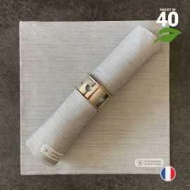Serviettes en tissu-ouate anthracite Biodégradables et compostables 40cm x 40cm Par 40