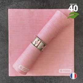 Serviettes en tissu-ouate rouges Biodégradables et compostables 40cm x 40cm Par 40