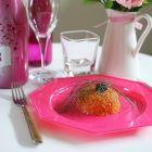 12 Assiettes octogonales fuchsia 24,5cm Lavables - réutilisables