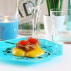12 Assiettes octogonales turquoise 17,5cm Lavables - réutilisables