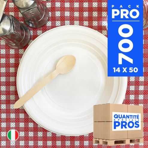 700 Assiettes chaleur creuses 21 cm. Recyclables - Réutilisables.
