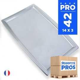 42 Plateaux 45 x 31cm gris. Recyclables - Réutilisables.