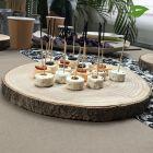 Rondin en bois naturel centre de table 30 cm