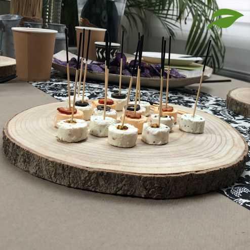 Rondin en bois naturel centre de table 24 cm
