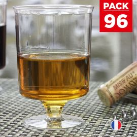 Pack 96 verres à vin 16 cl. Lavables - Réutilisables.