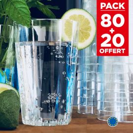 Pack 80 verres octo 25 cl + 20 verres gratuits.