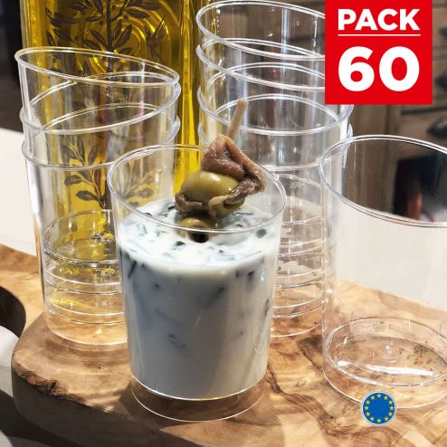 Pack 60 verrines biseau 12cl Recyclables - Réutilisables.