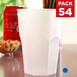 Pack 54 verres bière 42 cl. Lavables - Réutilisables.
