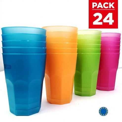 Pack 24 verres cocktail 42 cl. Lavables - Réutilisables.