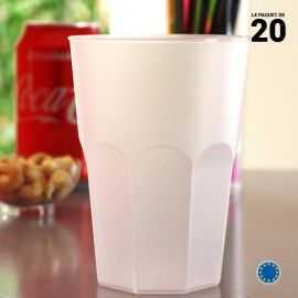 Verre cocktail transparent 42 cl. Recyclable. Réutilisable. Par 20.