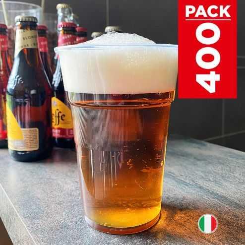 Pack 400 Gobelets bière 63cl Lavables réutilisables