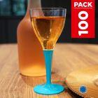 Pack 100 verres turquoise. Lavables - Réutilisables.