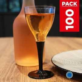 Pack 100 verres noirs. Lavables - Réutilisables.