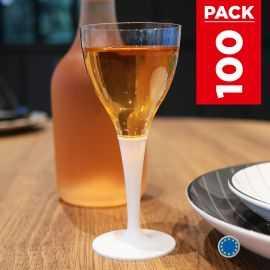 Pack 100 verres blancs. Lavables - Réutilisables.