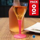 Pack 100 verres fuchsia. Lavables - Réutilisables.