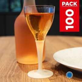 Pack 100 verres ivoire. Lavables - Réutilisables.