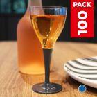 Pack 100 verres gris ardoise. Lavables - Réutilisables.