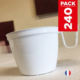 Pack 240 tasses café 15 cl. Lavables - Réutilisables.