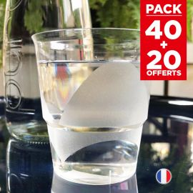 Pack 40 verres design 22 cl + 20 verres gratuits.