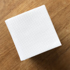 Pack 40 mini-cuillères inox + 40 Mini-serviettes Bio blanches 20cm x 20cm