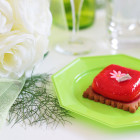 Pack 24 assiettes octo turquoise-vert anis 24,5cm et 17,5cm