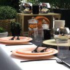 Assiette Bio orange macaron 18 cm. Home compost. Fibres végétales. Par 12