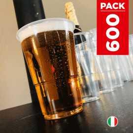 Pack 500 gobelets bière + 100 gobelets gratuits.