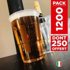 Pack 1000 gobelets bière + 250 gobelets gratuits.