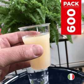 Pack 500 gobelets cristal 12 cl + 100 gratuits.
