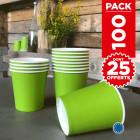 Pack 75 gobelets carton vert anis + 25 Gratuits.