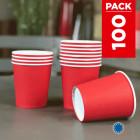 Pack 75 gobelets carton rouges + 25 Gratuits