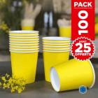 Pack 75 gobelets carton jaune + 25 Gratuits.