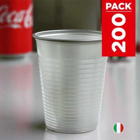 Pack 200 gobelets argent 20cl + 50 gobelets gratuits