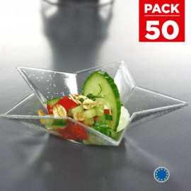 Pack 40 verrines étoile filante + 10 gratuites Recyclables - réutilisables