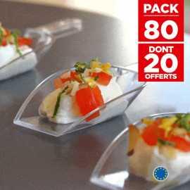 Pack 60 verrines p'tite pelle + 20 gratuites Recyclables - réutilisables