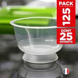 Pack 100 coupelles chaleur + 25 coupelles gratuites