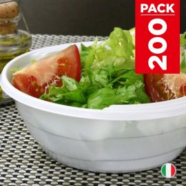 Pack 200 Bols chaleur 67cl. Blancs. Recyclables - Réutilisables