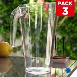 Pack 3 carafes Cristal Lavables- réutilisables