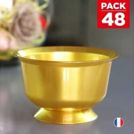 Pack 48 Coupelles Or Lavables - réutilisables. 23 cl.