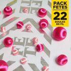Pack 22 boules en fil scintillant Fuchsia-Rose