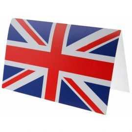 10 Cartons d'invitation Angleterre tricolore