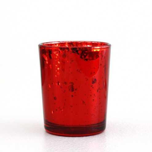 Photophore de table Rouge