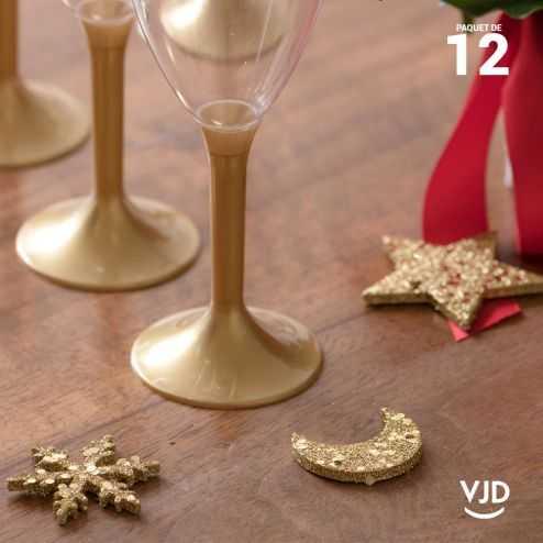 12 confettis assortiment constellation or