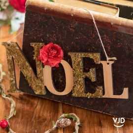 Suspension Noël couleur naturelle 30 cm
