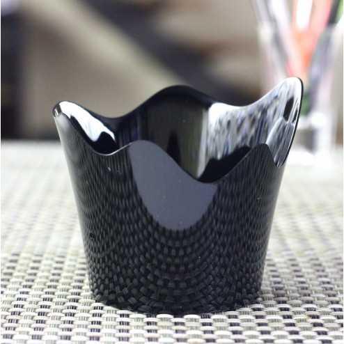 Verrine plastique noire orchidée 9 cl