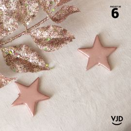 6 étoiles métal rose gold décoratives