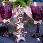 Décoration verticale 4 étoiles rose gold 20 cm
